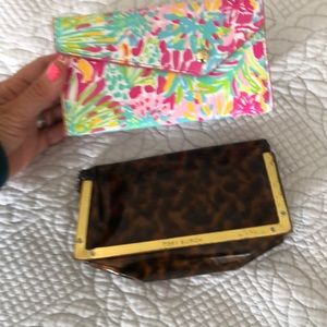 Tory Burch and Lilly Pulitzer sunglass cases